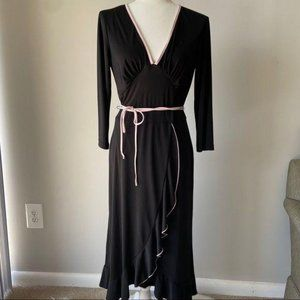 BLACK & PINK WRAP FLAMENCO STYLE DRESS – 10